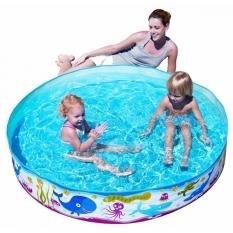 Bể Bơi Phao Bơi Tròn Đại Dương 55028 Bestway + Tặng Kèm Bơm Nhựa