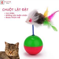 Đồ chơi bóng lật đật cho mèo – Đồ chơi lật đật hình chuột ngộ nghĩnh