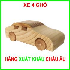 Đồ Chơi Gỗ Mô Hình An Toàn Cho Bé Made in Việt Nam – Gỗ Thông Nguyên Khối Bền Chắc – Đạt Tiêu Chuẩn Xuất Khẩu Châu Âu – Dòng xe Sedan 4 chỗ
