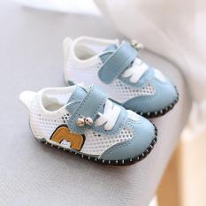 {Clip thực tế} Giày tập đi chống trượt cho bé có lớp lưới thoáng mát, giày tập đi đế mềm mùa hè thoáng mát (đủ màu)