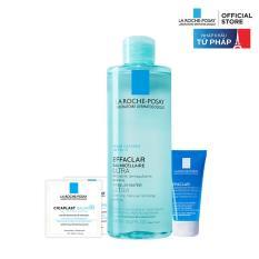 Bộ sản phẩm nước tẩy trang làm sạch sâu giàu khoáng dành cho da dầu mụn La Roche Posay Effaclar Micellar Water Oily Skin 400ML