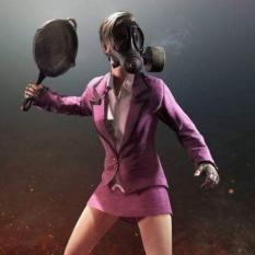 Bộ áo váy hồng Cosplay nhân vật PUBG có găng tay + chảo