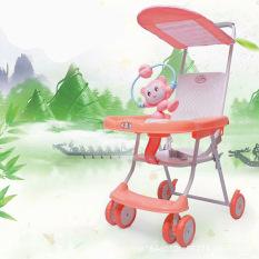 Xe đẩy du lịch siêu gọn nhẹ có đồ chơi cho bé BLB 7222