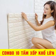 COMBO 10 Tấm Xốp Dán Tường 3D Giả Gạch Bóc Dán / Chịu lực, chống nước, chống ẩm mốc / 70x77cm