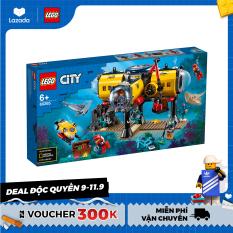 LEGO CITY 60265 Trạm Thăm Dò Đại Dương ( 497 Chi tiết) Bộ gạch đồ chơi lắp ráp cho trẻ em