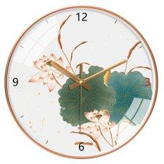 Đồng hồ treo tường kim trôi họa tiết sang trọng cao cấp