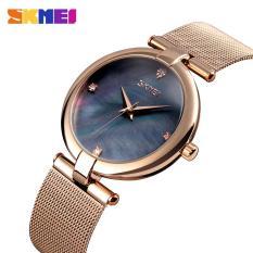 Đồng hồ nữ SKMEI 9177 dây thép lưới doanh nhân cao cấp