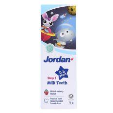 Kem Đánh Răng JORDAN STEP 1 (Cho bé từ 0-5 tuổi) Vị Dâu Hộp 75G