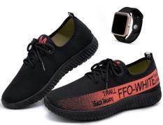 Giày thể thao nam siêu thoáng Sportmax SPM905626D – Đen + Tặng Đồng hồ Led táo thời trang thể thao