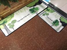 Thảm nhung nhà bếp cây xanh Binbin TSN29