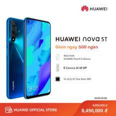 Điện thoại Huawei Nova 5T (8GB/128GB) – Chip Kirin 980 7nm 8 nhân mạnh mẽ – Bộ 4 camera sau 48 MP – Màn hình LCD 6.26 inch lớn độ phân giải Full HD+ Pin 3750 mAh hỗ trợ sạc siêu nhanh – Cảm biến vân tay ở cạnh bên – Hàng phân phối chính hãng