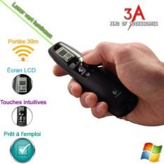 Bút trình chiếu R800 màu xanh/đỏ – bút thuyết trình slide powerpoint cao cấp logitech r800 laser màn hình led