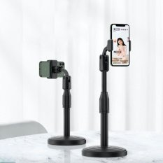Giá đỡ điện thoại DOZA dành cho livestream xoay 360 độ mọi góc nhìn, có thể điều chỉnh độ cao, phần đế dày và nặng rất vững chắc, giá kẹp chống trượt chống trầy