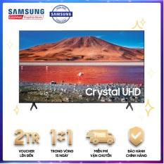 Smart Tivi Samsung 4K 50 inch UA50TU7000 Mới 2020 Hệ điều hành giao diện:Tizen OS Điều khiển tivi bằng điện thoại:Bằng ứng dụng SmartThings Kết nối không dây với điện thoại, máy tính bảng: Chiếu màn hình qua AirPlay 2