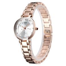 Đồng hồ nữ SKMEI dây thép mặt pha lê đính đá – tặng kèm pin – SK96
