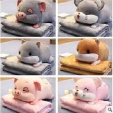 Bộ chăn gối văn phòng chuột Hamster, Heo xinh. Gấu bông đẹp HQ