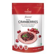 [ Sản Phẩm Mỹ] Qủa Nam Việt Quất 200g – Cranberrries – Trái cây sấy Rostaa