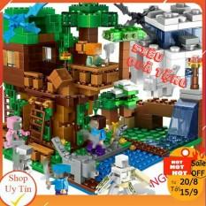 Lego Minecraft – chuỗi lego Minecraft NO.6007 [My World HOT 2020] (883 chi tiết), thiết kế dựa trên các nhân vật và thế giới từ bộ game xây dựng thế giới nổi tiếng với những khối