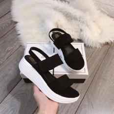 giày sandal nữ độn đế 5cm đế bánh mì siêu nhẹ