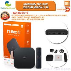 Android Tivi Box Xiaomi Mibox S 4K Global Quốc Tế (Android 8.1) digiworld phân phối hàng chính hãng