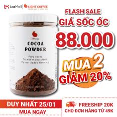 [MUA 2 GIAM 20%] Bột Cacao nguyên chất không đường Light Cacao tốt cho sức khỏe – hũ 350g