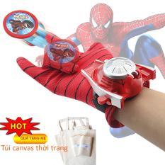 Đồ chơi găng tay siêu nhân người nhện bắn đĩa cho bé