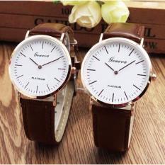 (Tặng kèm hộp và pin) Đồng hồ cặp thời trang nam nữ geneva phong cách lịch lãm LQ61212