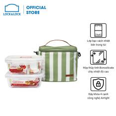 Bộ túi hộp cơm thủy tinh Lock&Lock giữ nhiệt 3EA (LLG429D*1LLG428*1BAG-HPL815SBLU*1) – LLG428S2