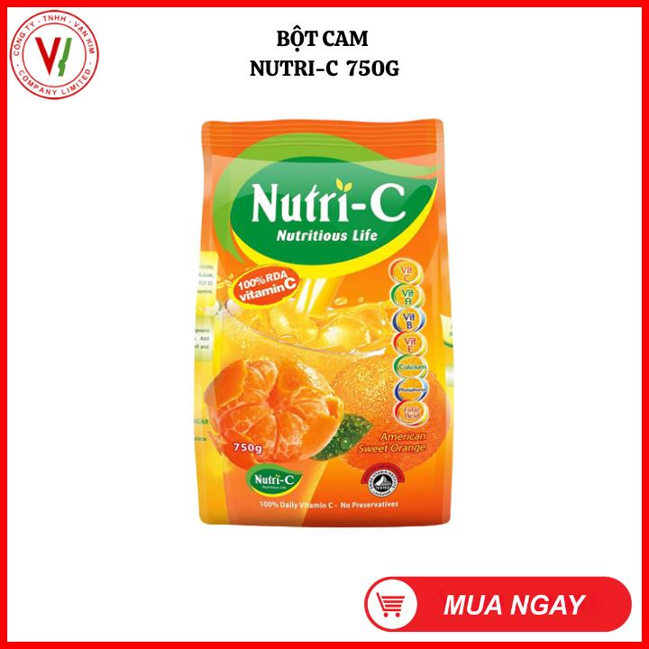 Bột cam Nutri-C 750g – GIẢI KHÁT, THANH NHIỆT, giúp tăng cường SỨC ĐỀ KHÁNG cho cơ thể, cung cấp NĂNG LƯỢNG và phục hồi CƠ THỂ mệt mỏi sau vận động