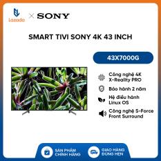 Smart Tivi Sony 4K 43 inch 43X7000G – Hàng Phân Phối Chính Hãng, Hệ điều hành Linux OS – Nâng cao chất lượng hình ảnh lên gần chuẩn 4K nhờ công nghệ 4K X-Reality PRO – Âm thanh lôi cuốn với công nghệ S-Force Front Surround – Bảo hành 2 năm