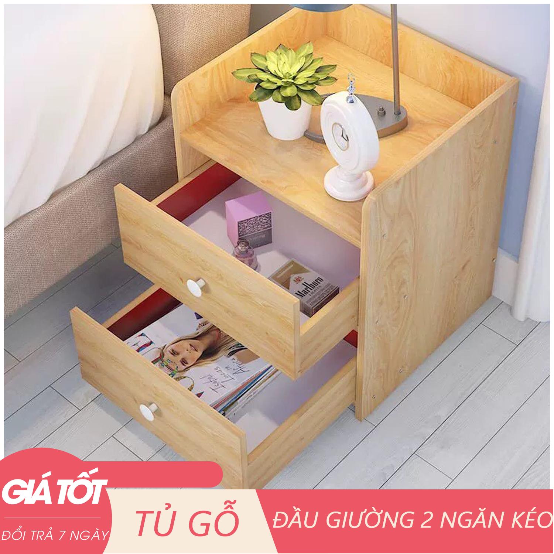 Tủ đầu giường – Tủ gỗ để đồ – Tủ gỗ đầu giường 2 ngăn kéo, 1 ngăn kéo – Kệ đầu giường – kệ gỗ 2 ngăn cao cấp
