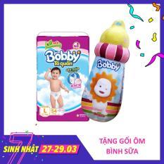 [MỚI] Tã quần Bobby (hương trà xanh) gói siêu lớn L-54 miếng (9 – 13kg) – Tặng 1 gối bình sữa 30cm