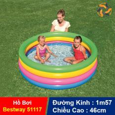 Hồ Bơi Phao 4 tầng Bestway 51117 đáy mềm, Đồ chơi trẻ em Bể Bơi cầu vồng – LICLAC