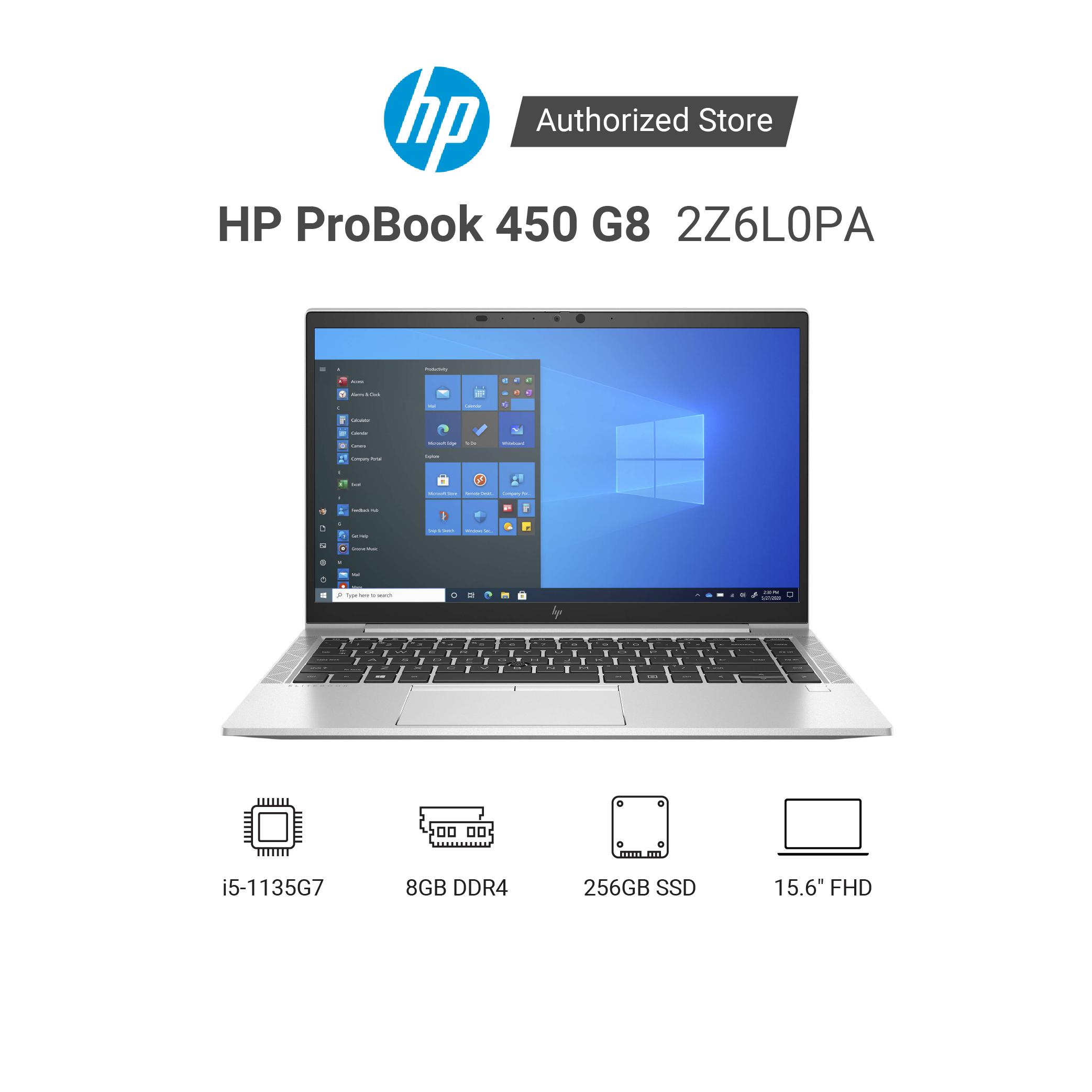 Laptop HP ProBook 450 G8 2Z6L0PA i5-1135G7 | RAM 8GB | 256GB SSD | NVIDIA Geforce MX450 2GB | 15.6 inch FHD | FreeDOS