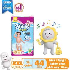 [KÈM QUÀ] Tã/Bỉm quần Bobby (hương trà xanh) gói siêu lớn XXL- 44 miếng (>16kg) – Tặng Bobby-chan biết hát 35cm