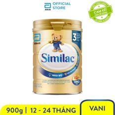 [GIẢM 50K ĐƠN 599K]Sữa bột Similac Eye-Q 3 HMO 900g Gold Label trẻ từ 1 – 2 tuổi bổ sung dinh dưỡng phát triển trí não và thị giác