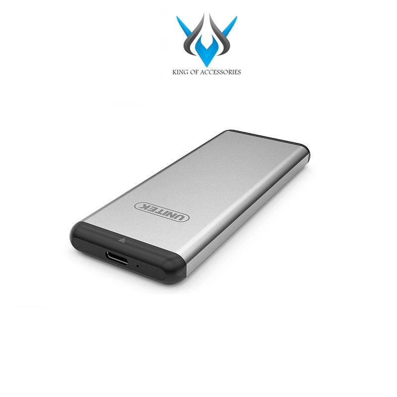 [HCM]Box chuyển SSD M2 Sata sang ổ cứng di động Unitek Y-3365 chuẩn 3.0 hỗ trợ đến 5Gbps (Xám) -...