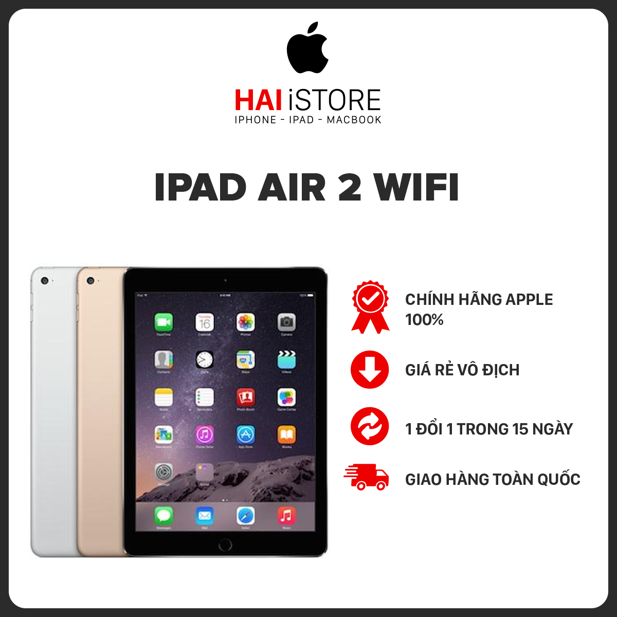 Máy tính bảng IPAD Air 2 WIFI