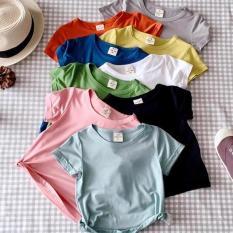 [5 CÁI 5 MÀU] Set 5 chiếc Áo Thun Cotton 5 Màu Khác Nhau Kiểu Dáng Basic Cho Bé Trai/Gái 8-18kg