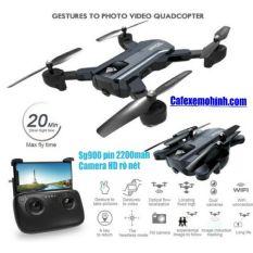 Flycam sg900 camera HD gấp gọn pin trâu 2200mah bay 22p có cảm biến đứng yên