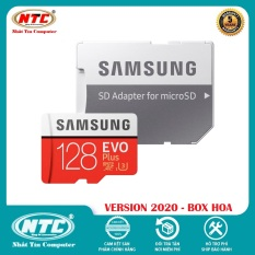 Thẻ nhớ MicroSDXC Samsung Evo Plus 128GB U3 4K R100MB/s W60MB/s – box Hoa New 2020 (Đỏ) + Kèm Adapter – Nhất Tín Computer