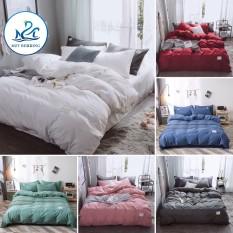 Bộ chăn ga gối cotton tici M2T Bedding màu trơn – Grap nệm thun lạnh Hàn Quốc – Drap giường đệm đủ size