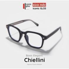 Gọng kính cận vuông nam nữ CHIELLINI màu đen chất liệu Acetate cao cấp phụ kiện thời trang hot trend