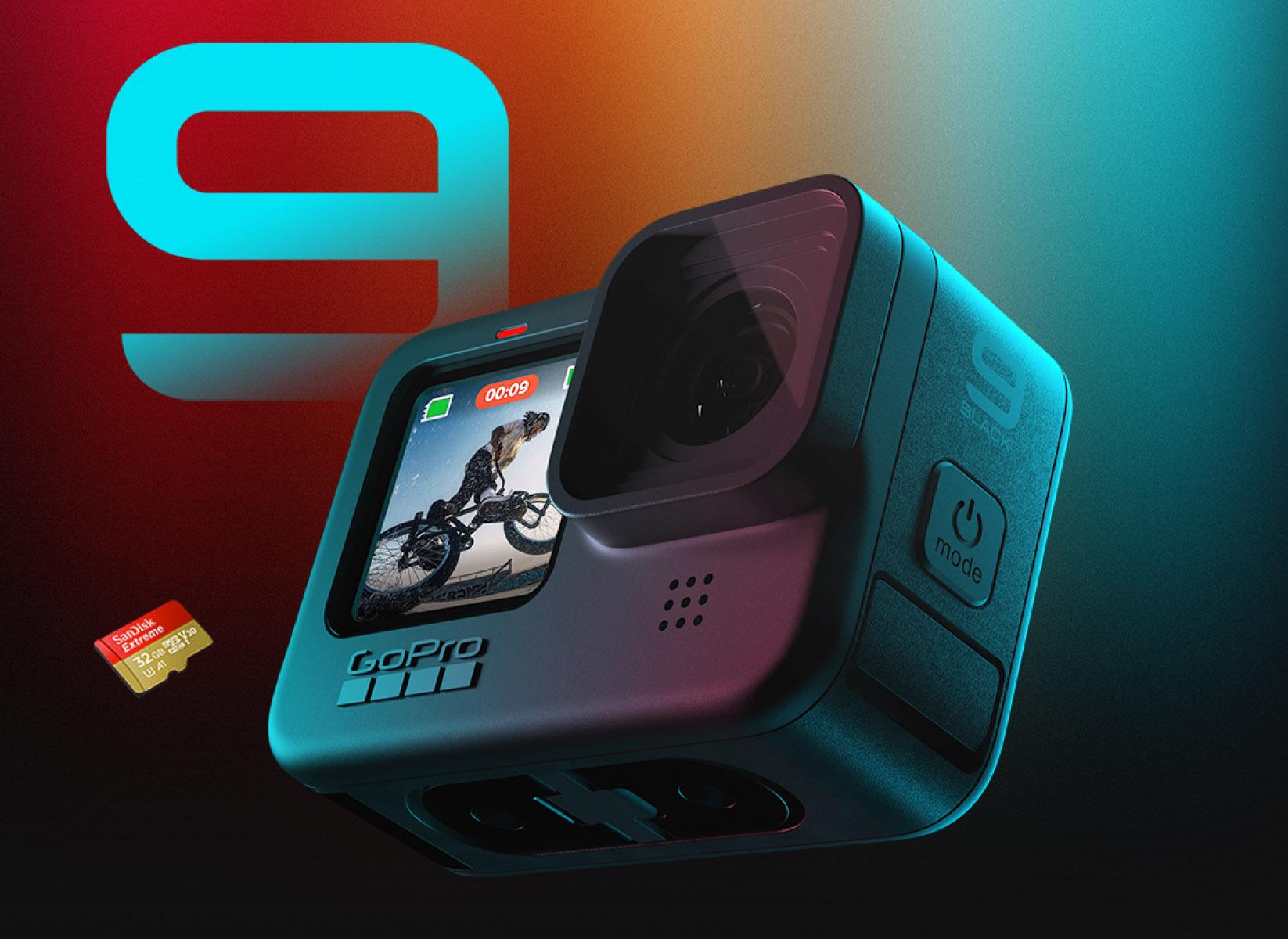 [HCM][Trả góp 0%] Máy quay Gopro Hero 9 Black Bản Bundle