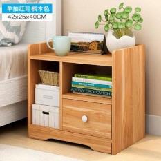 Tủ đầu giường gỗ 3 ngăn-1 ngăn kéo ( màu trắng-gỗ)