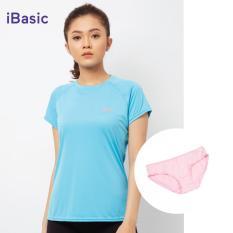 Áo thể thao nữ tay ngắn iBasic IBX036 tặng quần V199-3 hồng
