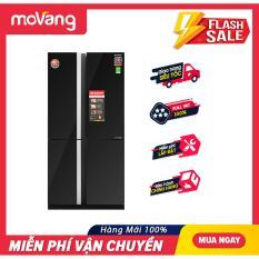 [VOUCHER 400K – TRẢ GÓP 0%] Tủ lạnh Sharp Inverter 605 lít SJ-FX688VG-BK