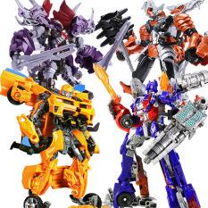 Robot lắp ráp biến hình Transformer, Optimus – Bumblebee-Triceratops-Tyrannosaurux (Hình ảnh đẹp)