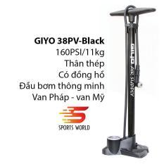 Bơm xe đạp, bơm xe gắn máy 160PSI/11KG GIYO GF-38PV – – SPORTS WORLD SHOP