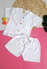 Bộ quần áo sơ sinh tay ngắn maù trắng cúc giữa nhiều màu đủ size cho bé từ sơ sinh đến 11,5kg